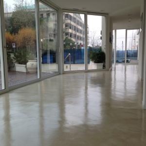 Riccione - Hotel Giulietta - pavimento in microcemento