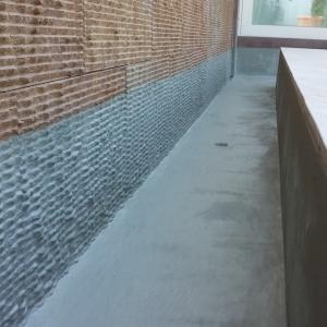 impermeabilizzazione vasca ornamentale villa Longiano